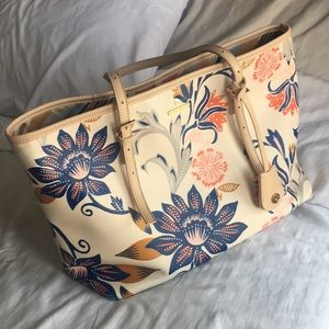 Spartina large tote floral pattern